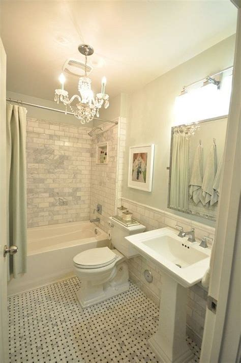 pictures of beautiful small bathrooms the small and chic home house tour carrera marble subway