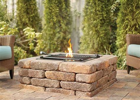 pit stones home depot warm your outdoor get togethers garden club