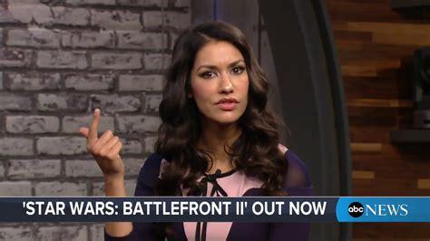 janina gavankar video games quot star wars battlefront ii quot video game demo with star