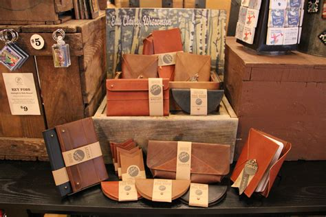 Handmade Leather Store - in the shop low roads leather goods