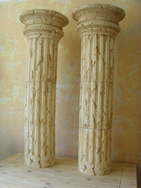 roman style column pedestals sculpture stand plant holder