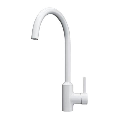 kitchen faucets white ringsk 196 r single lever kitchen faucet ikea