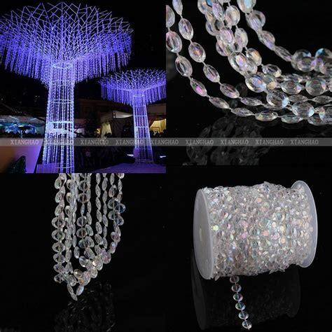 99 FT Iiridescent Garland Diamond Strand Acrylic Crystal