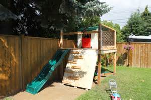 backyard slide plans diy playhouse plan with slide wooden pdf folding step