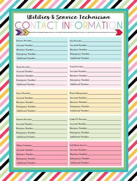 printable student information sheet