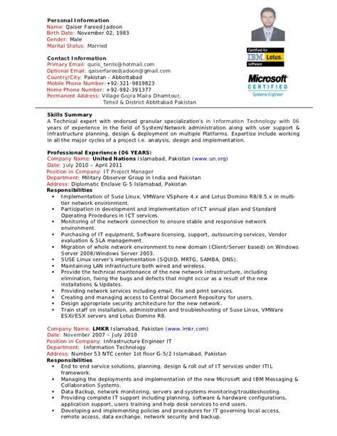 it project manager resume venture administration resume pattern