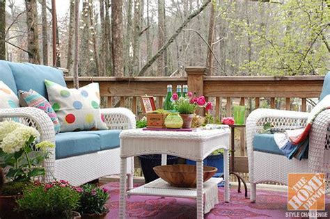 deck decorating ideas white wicker patio furniture