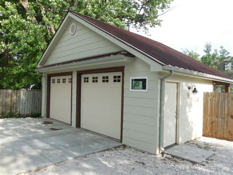 detached garage and workshop addition rustic garage