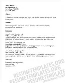 ticket resume template in word or pdf format