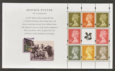 Gb Sts For Cooks Booklet Panes 1969 Fd Cover 1 1995 national trust sg y1749l prestige booklet panes 1969 2000 gb booklet panes great