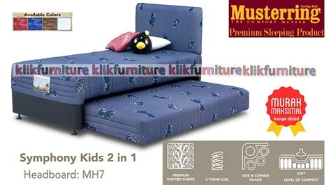 Musterring Hanya Kasur Bed Symphony 90 X 200 2 in 1 symphony mh7 musterring springbed toko