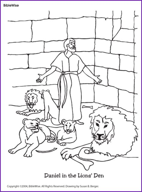 printable coloring pages daniel and the lions den coloring daniel in the lions den kids korner biblewise