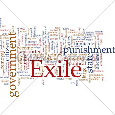 exile word cloud 183 gl stock images