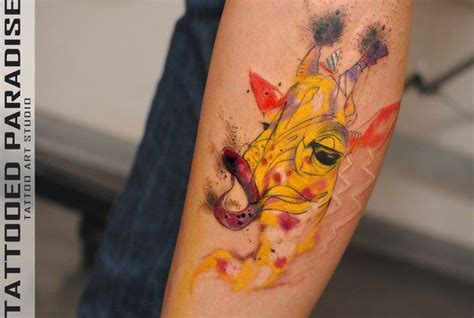 watercolor tattoos giraffe giraffe watercolor artist aleksandra