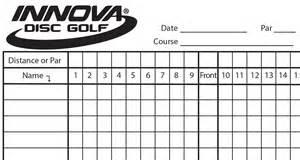 innova scorecard innova disc golf