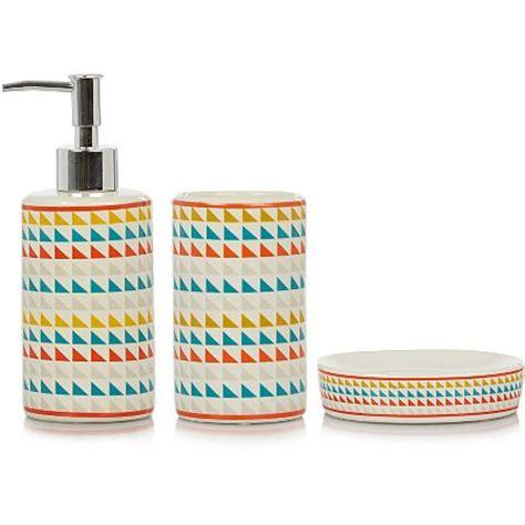 George Home Triangle Print Bath Accessories Range Asda Bathroom Accessories