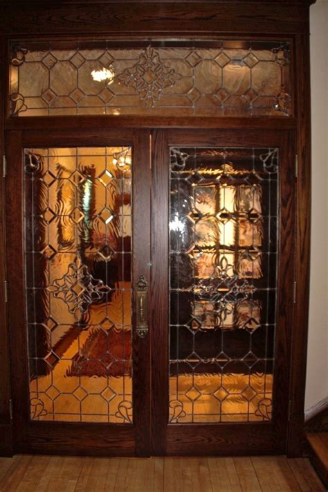 Beautiful Bevels Leaded Glass Door Inserts Sans Soucie Beveled Glass Door
