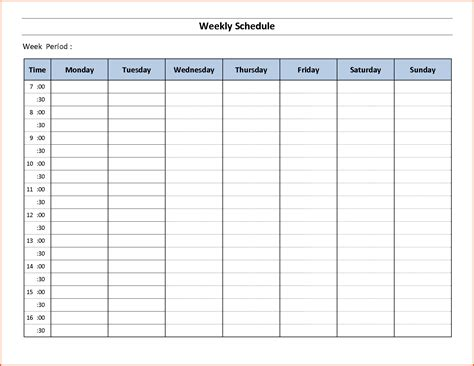 free weekly employee schedule template printable free weekly calendar calendar template 2016