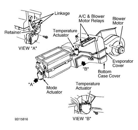 1994 Chevy Silverado Blend Door Actuator   1994 chevy silverado 1500 pickup knocking noise under