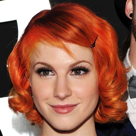 bright orange hair color short bright orange hair hayley william s hair photo