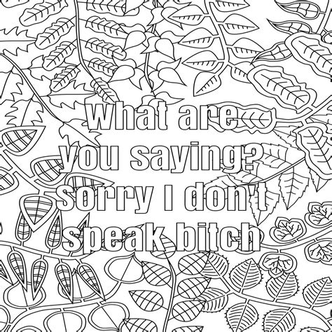 cool coloring pages with words surprising idea free printable coloring pages for adults