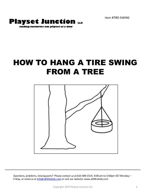 tire swing instructions make a tire swing