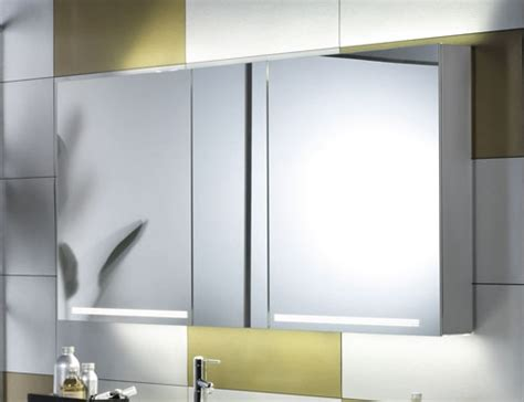 schneider graceline 3 door bathroom mirror cabinet 130cm