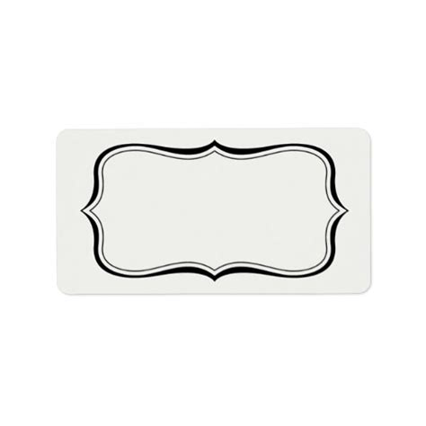 white mailing labels template calligraphy frame border white label template zazzle