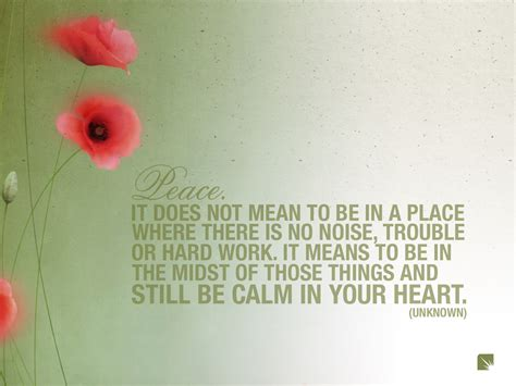 Peace Quotes Quotes On Peace And Calm Quotesgram
