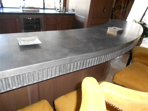 zinc kitchen countertop home design inspirations