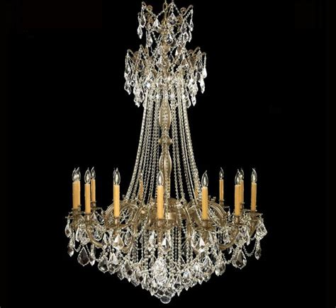Bronze Chandelier With Crystals Biella Collection Extra Large Brass Amp Crystal Chandelier