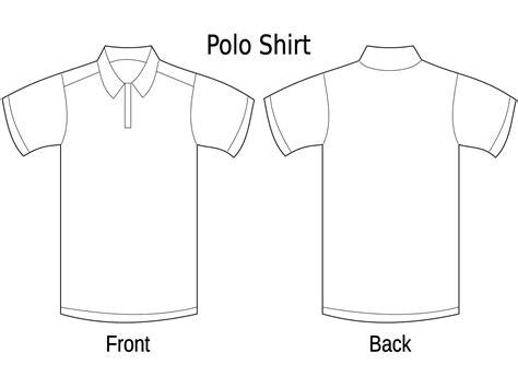 Kerah Baju Vektor gratis desain kaos polos kaos