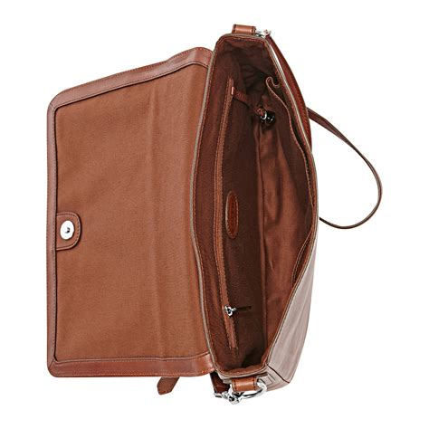 Fossil Leather lyst fossil sydney leather flap crossbody in brown