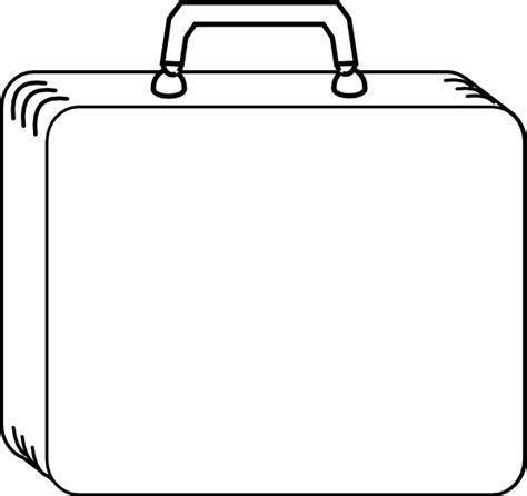 plain white suitcase clip art at clker com vector clip