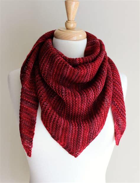 knitting pattern scarf with slot free knitting patterns truly triangular scarf slot