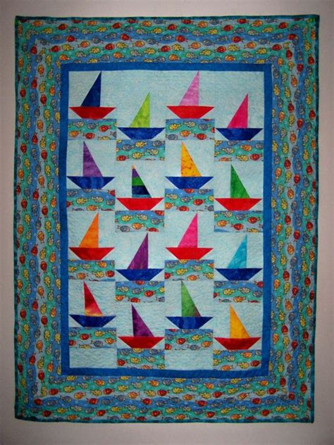 Quilts Boys by Baby Boy Quilt Sailboats