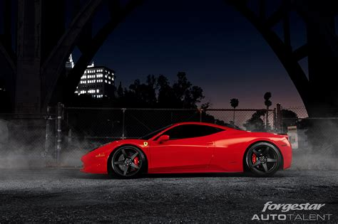 ferrari wheels ferrari 458 italia rides on forgestar cf5 concave wheels