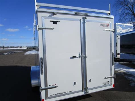 Cargo Trailer Ladder Rack by 2018 Bravo 7x16 Enclosed Contractor Trailer W Ladder Racks