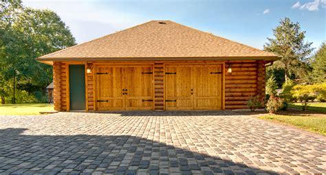 log home with 2 garages log home garage plans linwood log home under construction two car garage