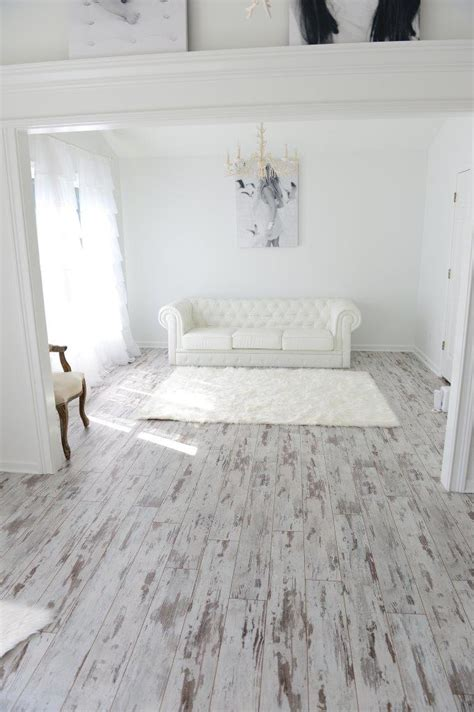 All White Bathroom Ideas by White Washed Oak Laminate Flooring