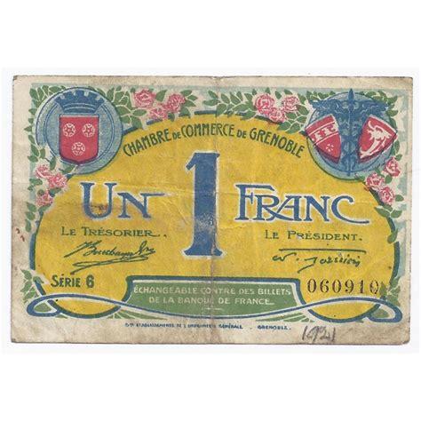 chambre commerce grenoble 38 grenoble chambre de commerce 1 franc 1922 tres beau
