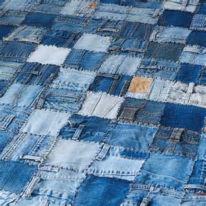 denim patchwork rug from rugshop uk