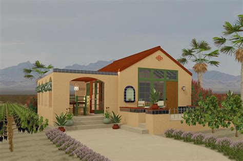 Adobe Style House by Adobe Southwestern Style House Plan 1 Beds 1 Baths 398