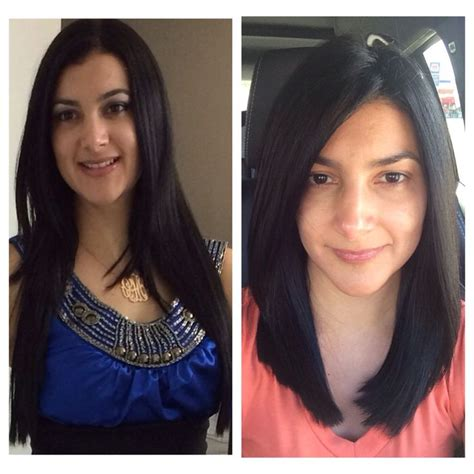 before and after long hair to lob 8 best images about lob on pinterest simple medium