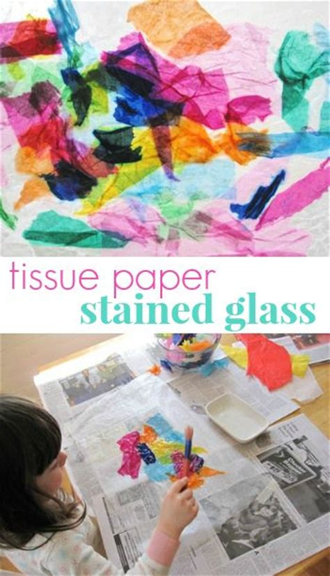 How To Make Stained Glass With Wax Paper - tissue paper stained glass craft for