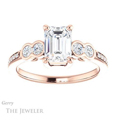 emerald cut engagement ring setting gtj996 emerald r