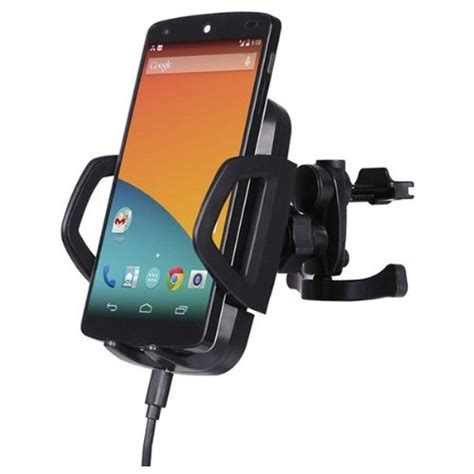 Wireless Car Charger With Air Vent Holder Powerqi C3a Black powerqi c3a wireless car charger with air vent holder black jakartanotebook