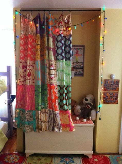 Patchwork Quilt Curtains - boho fabric patchwork curtain shower curtain or quilt top