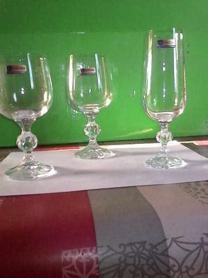 bicchieri in cristallo di boemia bicchieri cristallo boemia con bordo oro posot class
