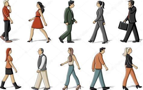 desenho de pessoas pessoas de desenho animado andando vetor de stock